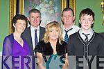 Mary O'Leary, Denis O'Leary, John, Kathleen and Tom O'Sullivan enjoying the Kiskeam GAA social in the Dromhall Hotel Killarney on Saturday night..