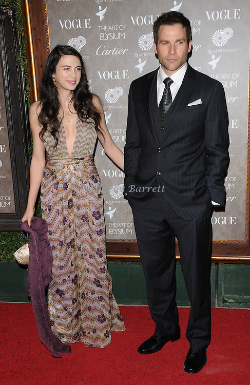 "Shiva Rose and date arriving at The Art of Elysium 2nd Annual Black Tie Charity Gala ""Heaven"" held at The Vibiana  Los Angeles, Ca. January 10, 2009. Fitzroy Barrett"