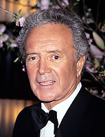 ***FILE PHOTO*** ***Vic Damone Has Passed Away aged 89***<br /> Vic Damone photographed by Walter McBride on April 18th, 1996. <br /> CAP/MPI/WAL<br /> &copy;WAL/MPI/Capital Pictures