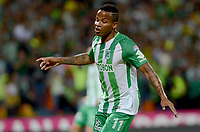 MEDELLÍN - COLOMBIA, 07-02-2018: Andres Renteria de Atlético Nacional celebra después de anotar un gol a Millonarios durante partido de vuelta de la SuperLiga Águila 2018 jugado en el estadio Atanasio Girardot de la ciudad de Medellín. / Andres Renteria payer of Atletico Nacional celebrates after scoring a goal to Millonarios during second leg match for the final of the SuperLiga Aguila 2018 at Atanasio Girardot stadium in Medellin city. Photo: VizzorImage/ León Monsalve /Cont