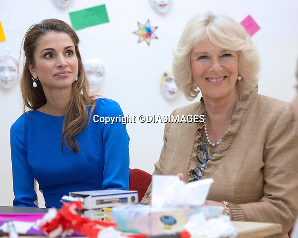 "CAMIILA, DUCHESS OF CORNWALL AND QUEEN RANIA.visits Mahes Secondary Girls School Amman, Jordan_12/03/2013.The Royal couple are on a tour of four Middle Eastern countries..Mandatory credit photo:©DiasImages/NEWSPIX INTERNATIONAL..**ALL FEES PAYABLE TO: ""NEWSPIX INTERNATIONAL""**..PHOTO CREDIT MANDATORY!!: NEWSPIX INTERNATIONAL(Failure to credit will incur a surcharge of 100% of reproduction fees)..IMMEDIATE CONFIRMATION OF USAGE REQUIRED:.Newspix International, 31 Chinnery Hill, Bishop's Stortford, ENGLAND CM23 3PS.Tel:+441279 324672  ; Fax: +441279656877.Mobile:  0777568 1153.e-mail: info@newspixinternational.co.uk"