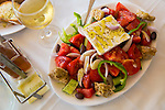 The traditional Greek salad at Akti Enoseos, Crete, Greece, Europe