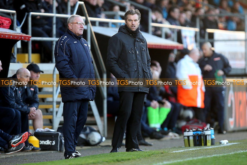 Dagenham manager Daryl McMahon during Dagenham & Redbridge vs Stockport County, Vanarama National League Football at the Chigwell Construction Stadium on 8th February 2020