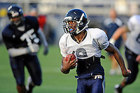 12 August 2011:  FIU's Kedrick Rhodes (9) carries the ball during a scrimmage held as part of the FIU 2011 Panther Preview at University Park Stadium in Miami, Florida.