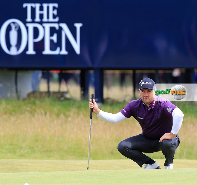 Graeme McDOWELL (NIR) on the 15th green during Sunday's Round  of the 144th Open Championship, St Andrews Old Course, St Andrews, Fife, Scotland. 19/07/2015.<br /> Picture Eoin Clarke, www.golffile.ie