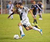 CARSON, CA - November 4, 2012: LA Galaxy midfielder Landon Donovan (10) during the LA Galaxy vs the San Jose Earthquakes at the Home Depot Center in Carson, California. Final score LA Galaxy 0, San Jose Earthquakes 1.