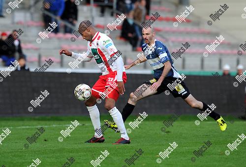 2012-11-04 / Voetbal / seizoen 2012-2013 / R. Antwerp FC - Roeselare / Omar Bennassar (Antwerp) is gevaarlijk..Foto: Mpics.be