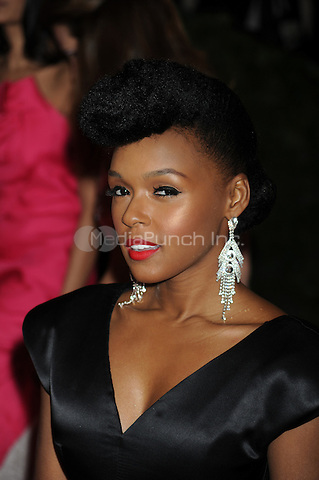 Janelle Monae at the 'Schiaparelli And Prada: Impossible Conversations' Costume Institute Gala at the Metropolitan Museum of Art on May 7, 2012 in New York City.. Credit: Dennis Van Tine/MediaPunch