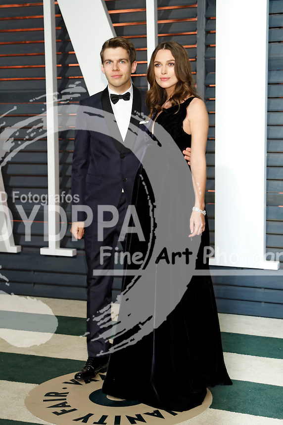 Keira Knightley and James Righton attending the Vanity Fair Oscar Party 2015 on February 22, 2015 in Beverly Hills, California.