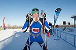 4860<br /> <br /> Tour of Anchorage 50k men&rsquo;s winner Jack Novak (2001) rests after winning the  race Sunday, March 4, 2018.  Photo by Michael Dinneen  / www.dinneenphoto.com