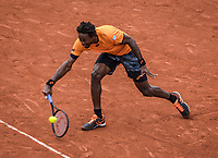 Paris, France, 3 June, 2017, Tennis, French Open, Roland Garros, Gael Monfils (FRA)<br /> Photo: Henk Koster/tennisimages.com