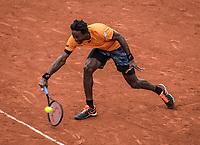 Paris, France, 3 June, 2017, Tennis, French Open, Roland Garros, Gael Monfils (FRA)<br /> Photo: Henk Koster/tennisimages.com