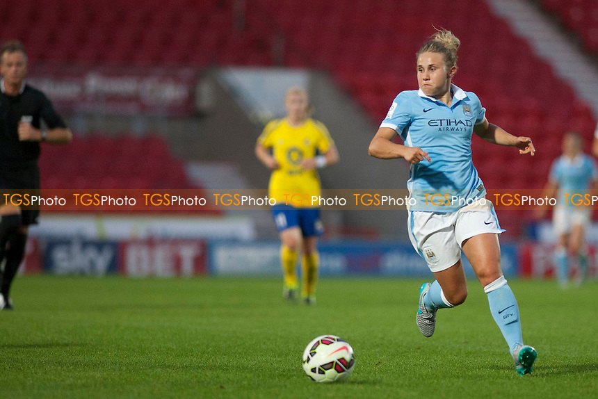 Isobel Christiansen (Man City Women)<br /> Doncaster Rovers Belles vs Manchester City Women, FA Womens Super League Continental Tyres Cup Football at the Keepmoat Stadium, Stadium Way, Doncaster, West Riding of Yorkshire on 23/07/2015 - MANDATORY CREDIT: Mark Hodsman/TGSPHOTO