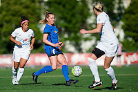 Seattle, WA - Sunday, May 1, 2016: Seattle Reign FC midfielder Lindsay Elston (6) looks to pass the ball during the second half of a National Women's Soccer League (NWSL) match at Memorial Stadium. Seattle won 1-0.