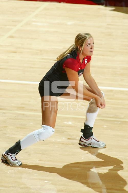 15 September 2005: Jessica Fishburn during their 3-0 win over Saint Mary's in Maples Pavilion in Stanford, CA.