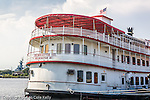 Riverboat at the historical riverfront district of Wilmington, NC