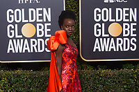 Danai Gurira arrives at the 76th Annual Golden Globe Awards at the Beverly Hilton in Beverly Hills, CA on Sunday, January 6, 2019.<br /> *Editorial Use Only*<br /> CAP/PLF/HFPA<br /> Image supplied by Capital Pictures