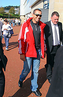 Saturday, 06 October 2012<br /> Pictured: Spanish golfer Sergio Garcia arriving at the Liberty Stadium.<br /> Re: Barclays Premier League, Swansea City FC v Reading at the Liberty Stadium, south Wales.