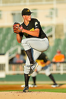 West Virginia Power starting pitcher Tyler Glasnow (24) in action against the Kannapolis Intimidators at CMC-Northeast Stadium on July 9, 2013 in Kannapolis, North Carolina.  The Power defeated the Intimidators 3-1.   (Brian Westerholt/Four Seam Images)