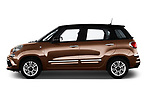 Car driver side profile view of a 2018 Fiat 500L Lounge 5 Door Mini Van