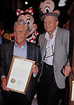 Andy Griffith and Don Knotts.with Mickey & Minnie Mouse.attending an ANDY GRIFFITH SHOW Reunion at the Disney MGM Studios, Walt Disney World Theme Park in Orlando, Florida..August 11, 1992.