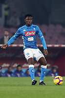 Amadou Diawara  Napoli<br /> Napoli 13-01-2019  Stadio San Paolo <br /> Football Italy Cup 2018/2019, round of 16<br /> Napoli - Sassuolo<br /> Foto Cesare Purini / Insidefoto