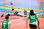 18.11.2018, Halle Berg Fidel, Muenster<br />Volleyball, Bundesliga Frauen, Normalrunde, USC MŸnster / Muenster vs. VfB Suhl Lotto ThŸringen / Thueringen<br /><br />Abwehr Rene Sain (#1 Suhl) / Libero<br /><br />  Foto © nordphoto / Kurth