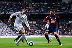 Cristiano Ronaldo (l) of Real Madrid is tackled by Anaitz Arbilla Zabala of SD Eibar during the La Liga 2017-18 match between Real Madrid and SD Eibar at Estadio Santiago Bernabeu on 22 October 2017 in Madrid, Spain. Photo by Diego Gonzalez / Power Sport Images