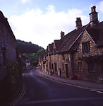 A293Y8 Cottages in Castle Combe Cotswolds village Wiltshire England