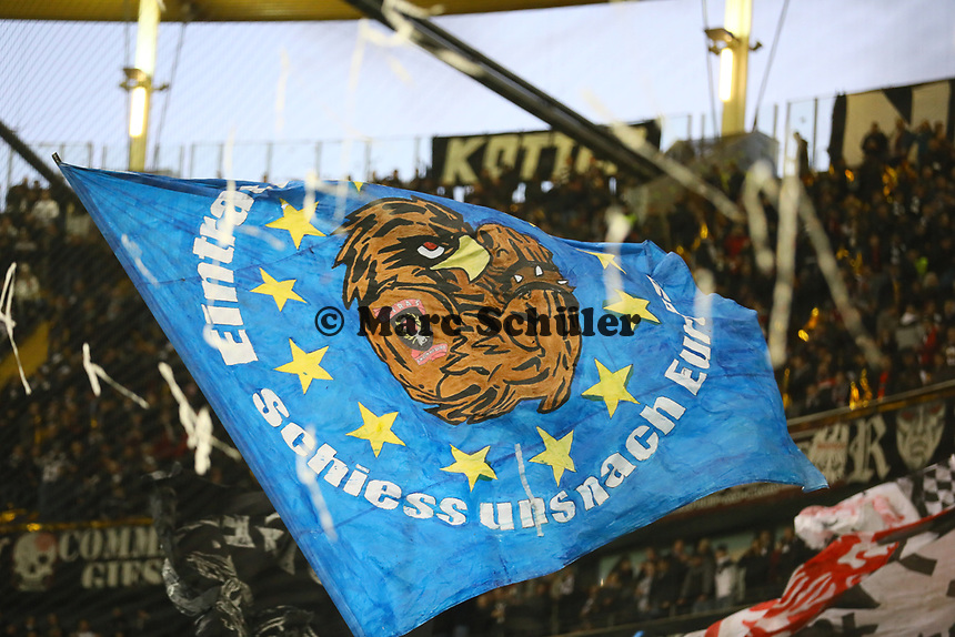 Eintracht Frankfurt Adler sind in Europa unterwegs - 07.03.2019: Eintracht Frankfurt vs. Inter Mailand, UEFA Europa League, Achtelfinale, Commerzbank Arena, DISCLAIMER: DFL regulations prohibit any use of photographs as image sequences and/or quasi-video.