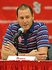 Joe Tartamella, Head Coach of St. John's University women's basketball, fields questions during Media Day at Lou Carnesecca Arena in Jamaica, NY on Thursday, Oct. 27, 2016.