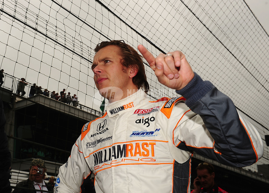 May 27, 2011; Indianapolis, IN, USA; Indy Car Series driver Dan Wheldon during Carb Day for the Indianapolis 500 at the Indianapolis Motor Speedway. Mandatory Credit: Mark J. Rebilas-