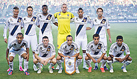 CARSON, CA - June 23, 2012: LA Galaxy starting lineup for the LA Galaxy vs Vancouver Whitecaps FC match at the Home Depot Center in Carson, California. Final score LA Galaxy 3, Vancouver Whitecaps FC 0.