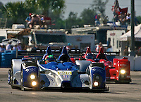 The #006 Oreca FLM09 of Gunnar Jeannette, Ricardo Gonzalez and Rudy Junco leads another car early in the 12 Hours of Sebring, Sebring International Raceway, Sebring, FL, March 19, 2011.  (Photo by Brian Cleary/www.bcpix.com)