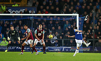 26th December 2019; Goodison Park, Liverpool, Merseyside, England; English Premier League Football, Everton versus Burnley; Seamus Coleman of Everton attempts a long range shot at goal - Strictly Editorial Use Only. No use with unauthorized audio, video, data, fixture lists, club/league logos or 'live' services. Online in-match use limited to 120 images, no video emulation. No use in betting, games or single club/league/player publications