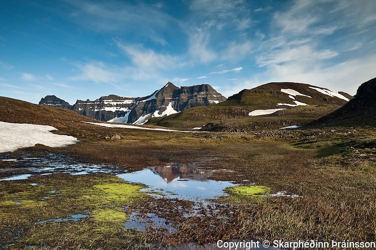 Mountain Dyrfjöll, east Iceland