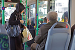 Woman On Bus Wearing Headscarf