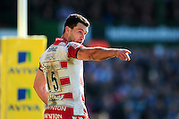 Tom Marshall of Gloucester Rugby. Aviva Premiership match, between Leicester Tigers and Gloucester Rugby on April 2, 2016 at Welford Road in Leicester, England. Photo by: Patrick Khachfe / JMP