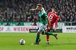 01.12.2018, Weserstadion, Bremen, GER, 1.FBL, Werder Bremen vs FC Bayern Muenchen<br /> <br /> DFL REGULATIONS PROHIBIT ANY USE OF PHOTOGRAPHS AS IMAGE SEQUENCES AND/OR QUASI-VIDEO.<br /> <br /> im Bild / picture shows<br /> Ludwig Augustinsson (Werder Bremen #05) im Duell / im Zweikampf mit Thiago (FC Bayern Muenchen #06), <br /> <br /> Foto &copy; nordphoto / Ewert
