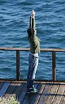 2-13-09.Adrien Brody stretching in  Malibu California.  He went on a little hike next to Owen Wilson?s house ...www.AbilityFilms.com.805-427-3519.AbilityFilms@yahoo.com