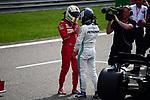 13.04.2019, Shanghai Audi International Circuit, Shanghai, 2019 FORMULA 1 HEINEKEN CHINESE GRAND PRIX<br /> im Bild<br />Poleposition f&uuml;r Valtteri Bottas (FIN#77), Mercedes-AMG Petronas Motorsport, 3. Startplatz f&uuml;r Sebastian Vettel (GER#5), Scuderia Ferrari<br /> <br /><br /> <br /> Foto &copy; nordphoto / Bratic