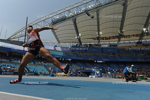 Risa Miyashita (JPN),  SEPTEMBER 1, 2011 - Athletics : The 13th IAAF World Championships in Athletics - Daegu 2011, Women's Javelin Throw Qualification at the Daegu Stadium in Daegu, South Korea. (Photo by Takashi Okui/AFLO)
