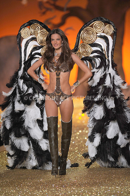 WWW.ACEPIXS.COM . . . . .....November 10 2010, New York City....Alessandra Ambrosio walks the runway during the 2010 Victoria's Secret Fashion Show at the Lexington Armory on November 10, 2010 in New York City.  ....Please byline: KRISTIN CALLAHAN - ACEPIXS.COM.. . . . . . ..Ace Pictures, Inc:  ..(212) 243-8787 or (646) 679 0430..e-mail: picturedesk@acepixs.com..web: http://www.acepixs.com