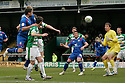 Mark Roberts of Stevenage heads wide. - Yeovil Town v Stevenage - npower League 1 - Huish Park, Yeovil - 14th April, 2012 . © Kevin Coleman 2012..