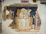 Weathered, fragmented, icons & frescoes, San Gimignano, Siena-Tuscano, Italy