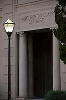 Detail, Mary Norton Clapp Library, Occidental College, July 23, 2009.  (Photo by Marc Campos, Occidental College Photographer)