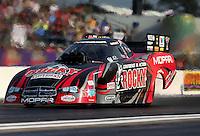 Apr 25, 2014; Baytown, TX, USA; NHRA funny car driver Matt Hagan during qualifying for the Spring Nationals at Royal Purple Raceway. Mandatory Credit: Mark J. Rebilas-