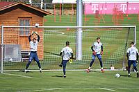 17th April 2020, Munich, Germany; Manuel NEUER (Bayern Munich),<br /> Sven ULREICH, (Bayern Munich),<br /> Christian FRUECHTL, (Bayern Munich),<br /> and Ron Thorben HOFFMANN <br /> training at Saebener Strasse.