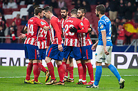 Atletico de Madrid Gabi Fernandez, Fernando Torres, Diego Costa, Yannick Carrasco and Vitolo Machin celebrating a goal during King's Cup match between Atletico de Madrid and Lleida Esportiu at Wanda Metropolitano in Madrid, Spain. January 09, 2018. (ALTERPHOTOS/Borja B.Hojas) /NortePhoto.com NORTEPHOTOMEXICO