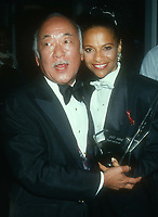 Pat Morita, Debbie Allen, 1992, Photo By Michael Ferguson/PHOTOlink